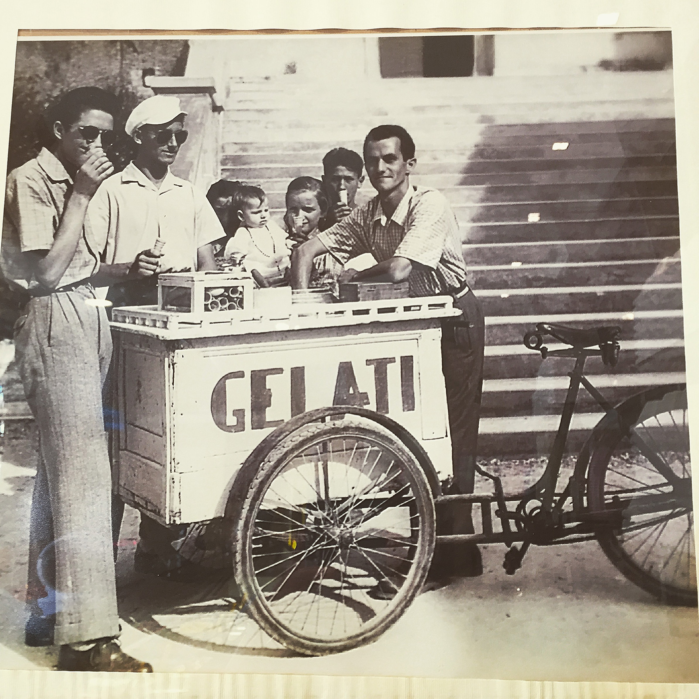 The history of the ice cream shop