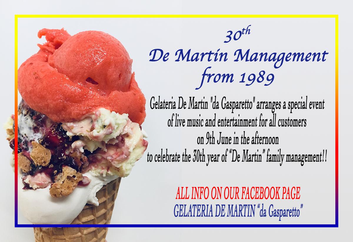 30 th gelateria de martin da gasparetto cordignano tv